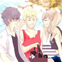 Persona 5 - Quick Summer Sketch by MsVellona