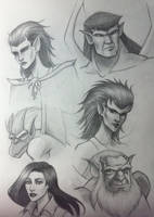 Gargoyles sketches by angelaxiii