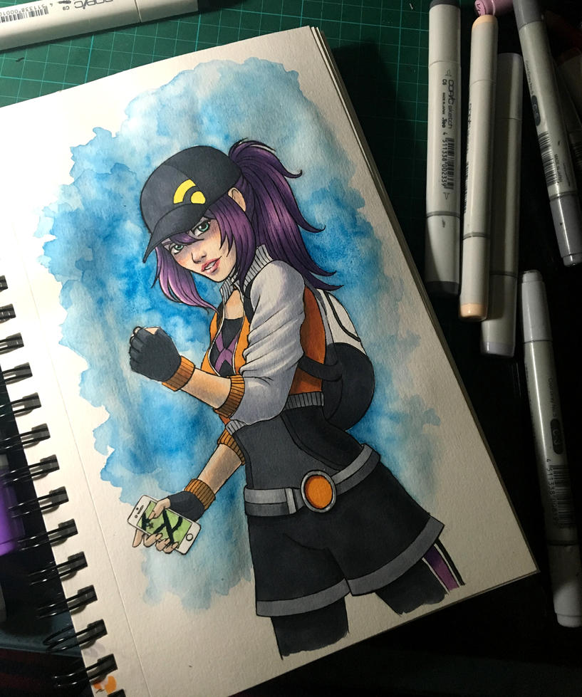 Pokemon Go Girl by darktenshilight