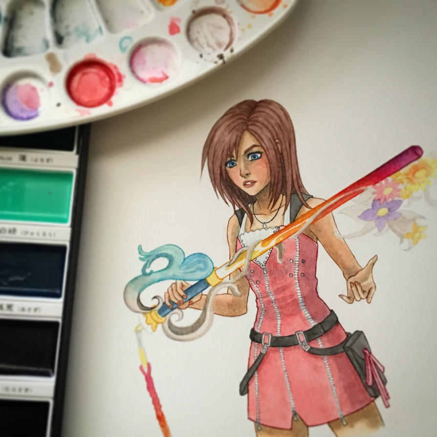 Wip. Kairi by darktenshilight