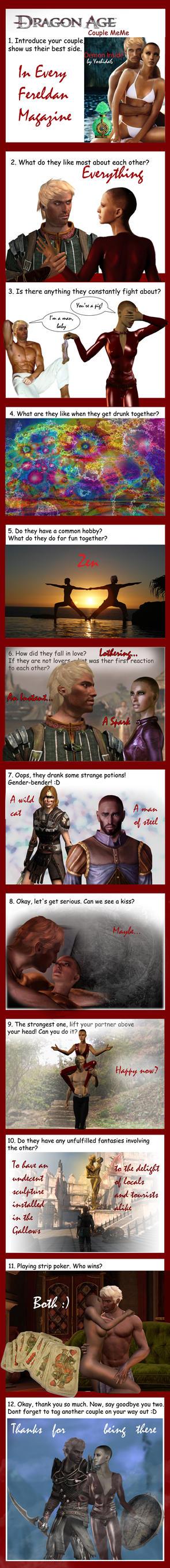 DA couple meme: Warden and Hawke by Yoshida6