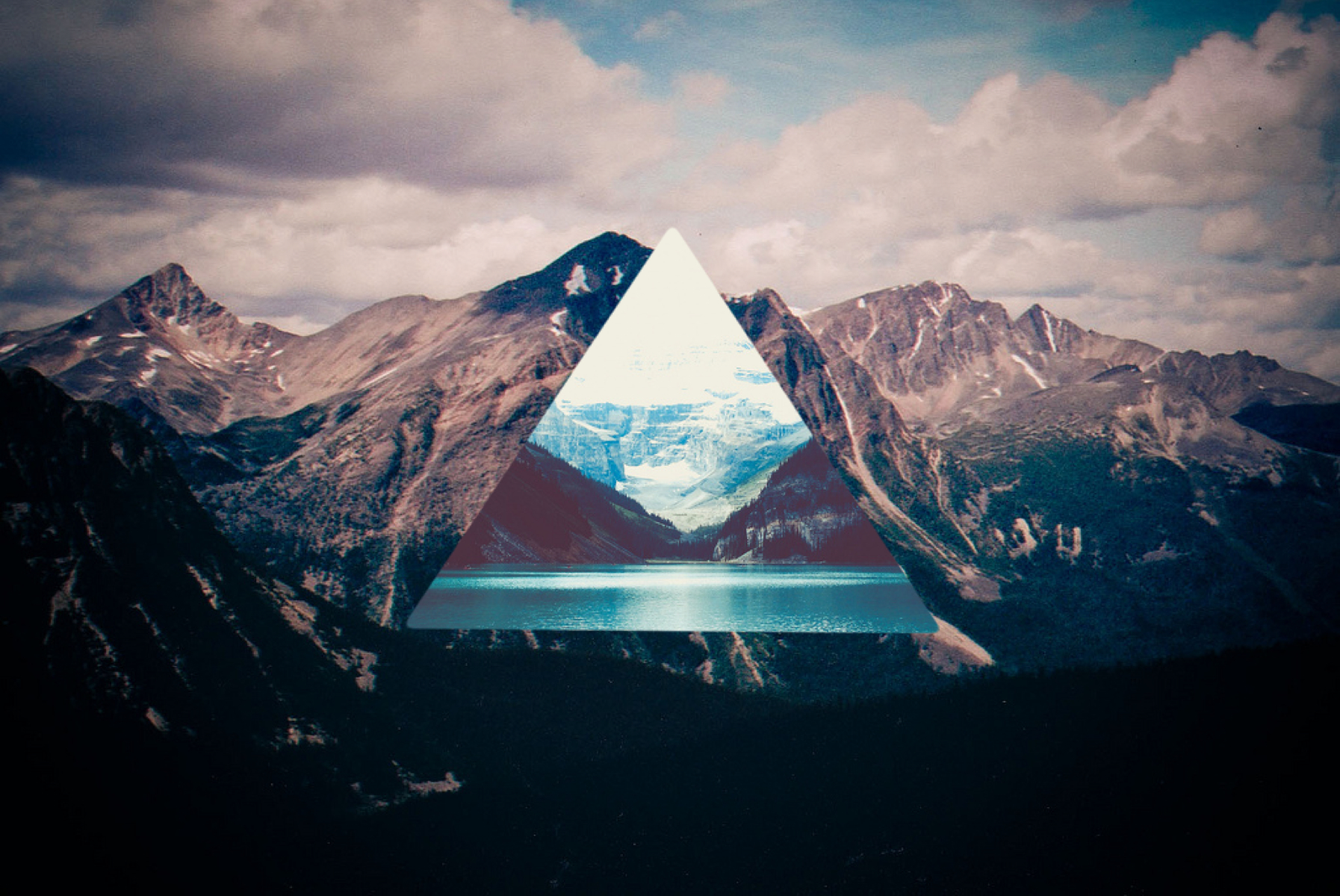 Displaying 17 gt  Images For - Mountains Tumblr Wallpaper   Inverted Triangle Wallpaper