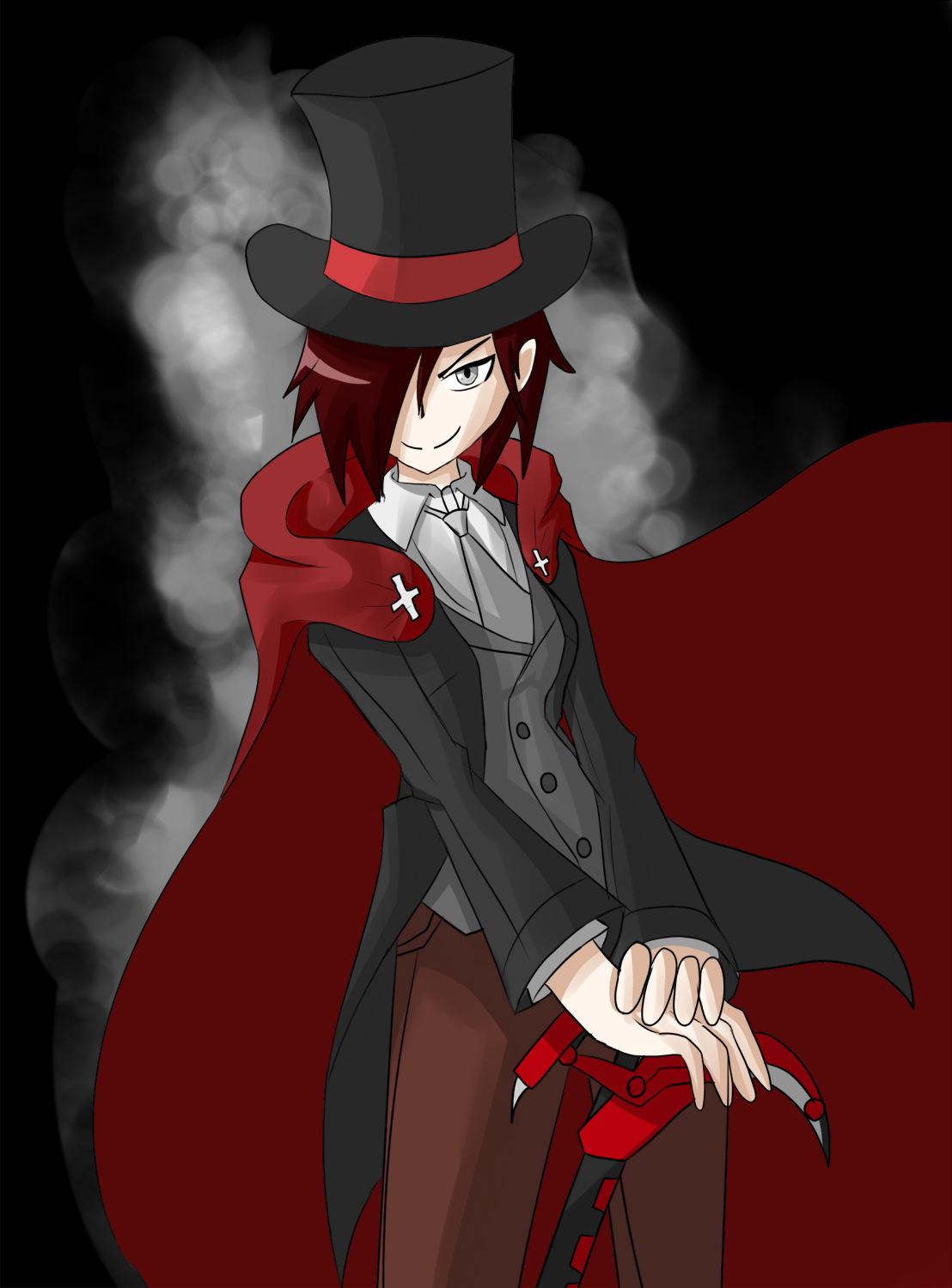 Tophat Ruby By Sorairo Wolf On Deviantart