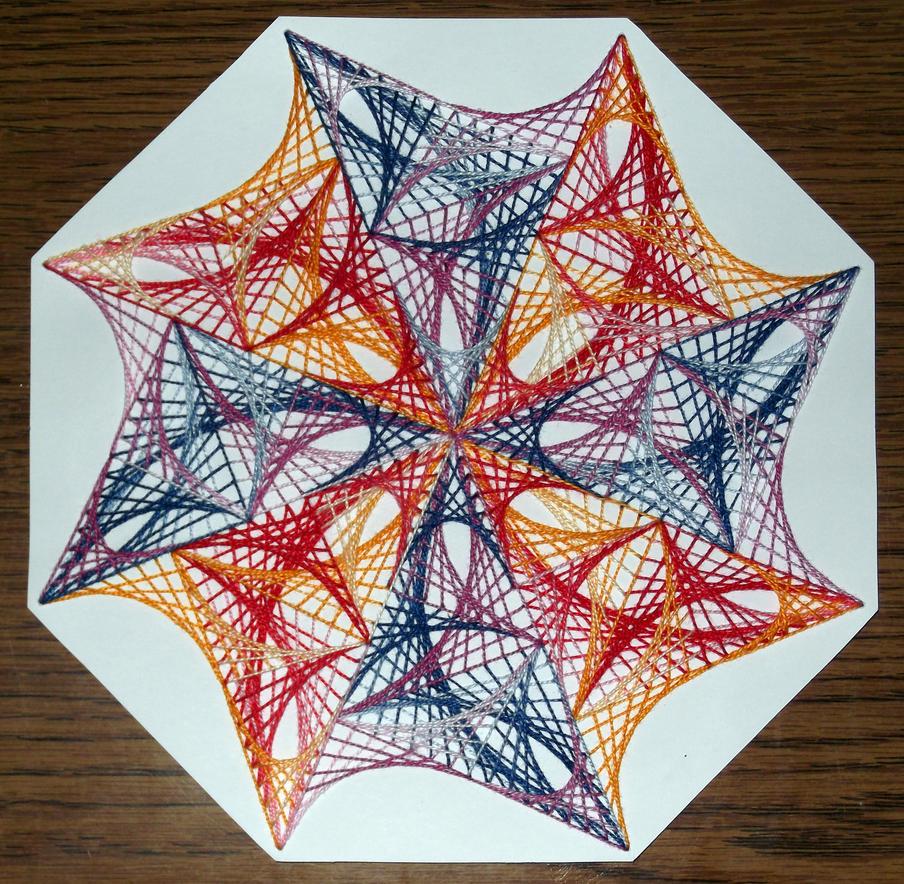 String art mandala 2 by terhesati on DeviantArt