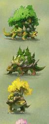 Pokemon variations: Torterra by turnipBerry
