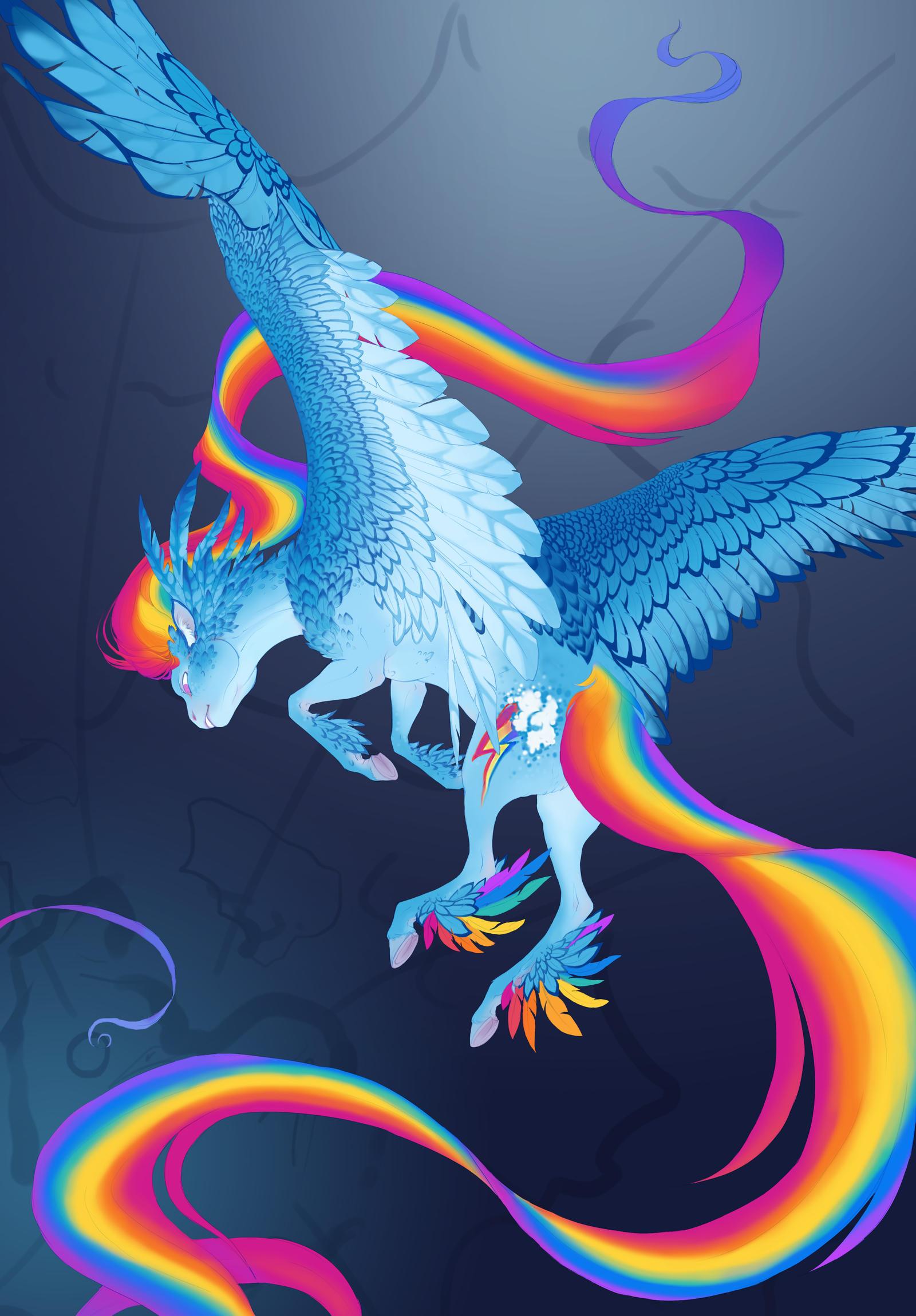 Extra Rainbow Rainbow Dash WIP by turnipBerry