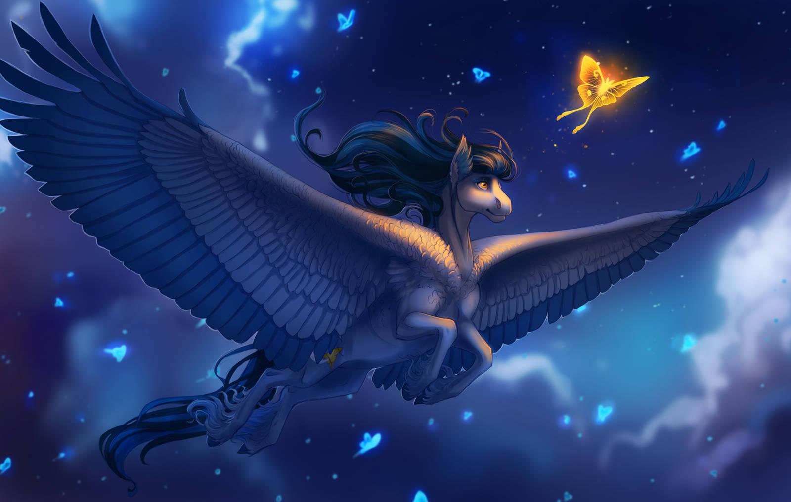 Spirit Moth by turnipBerry
