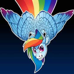 Rainbow Dash button Design by turnipBerry