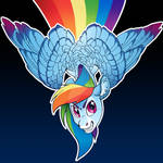 Rainbow Dash button Design