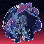 Nightmare Moon Button Design.