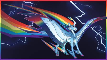 Alicorn AU Rainbow Dash