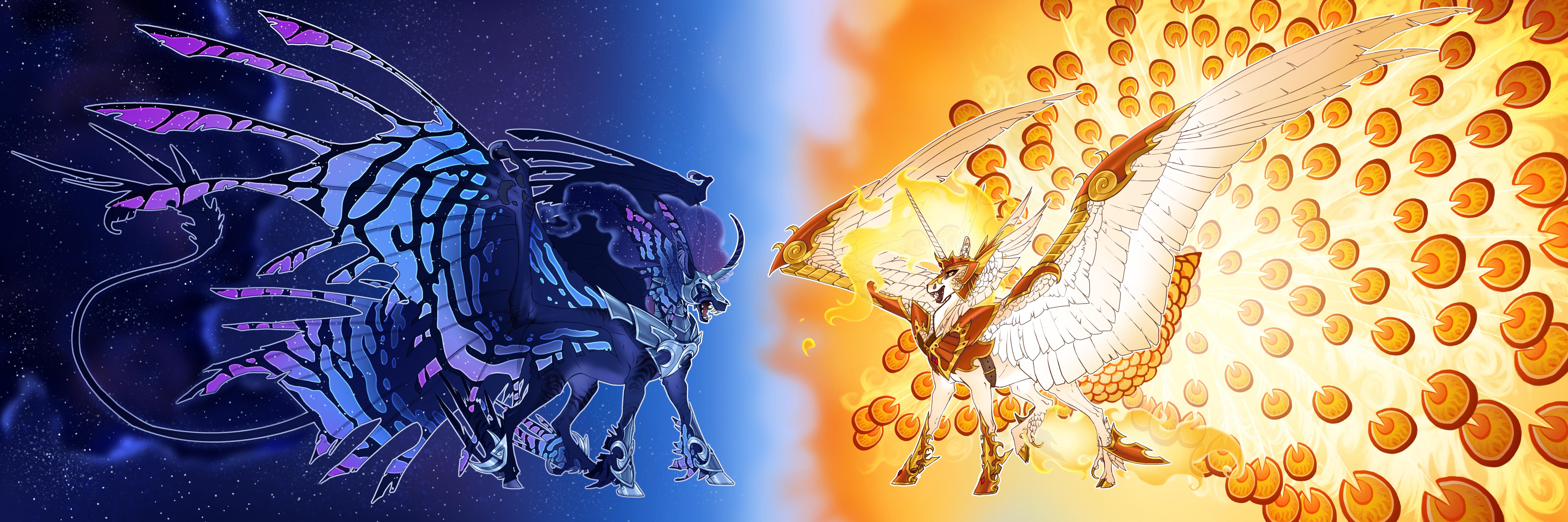 Nightmare Moon and Daybreaker Headcanon