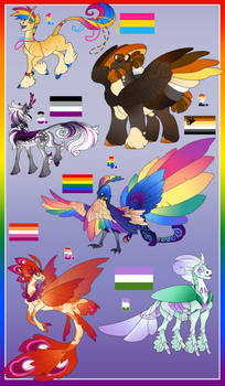 Charity Auction Pride Adoptables. Closed!