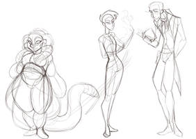 Character design animation sketches