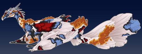 Koi Fish Dragon Commission