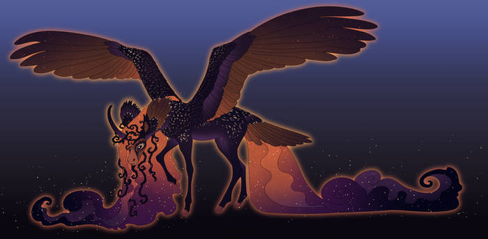 Melanistic Own Alicorn Commission
