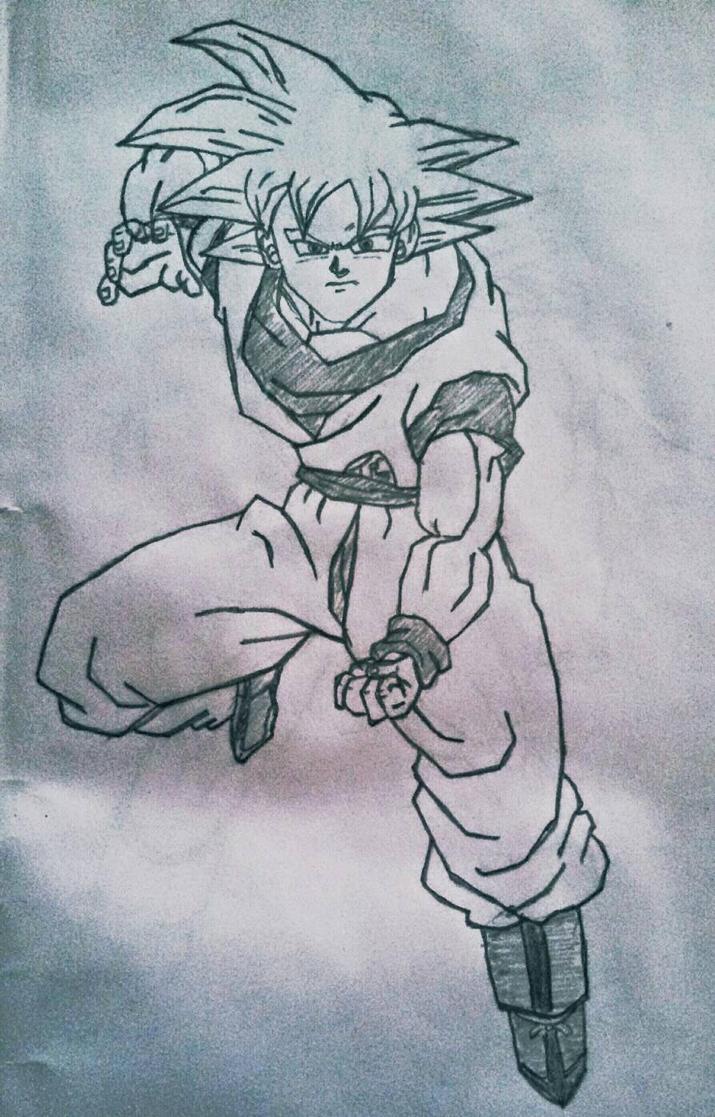 Goku ssj God  by Gogeta126
