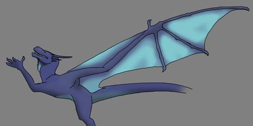coloured scrappy dragon by Kestenan