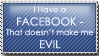 Facebook Is Not Evil Stamp by blacklilly5150