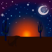 Desert Landscape by blacklilly5150