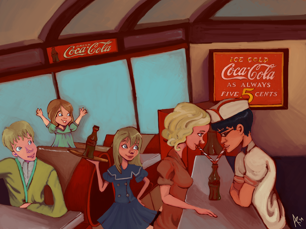 Always, Coca-Cola by bakabunny
