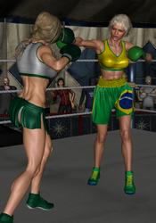 Fighter Girl versus La Linda