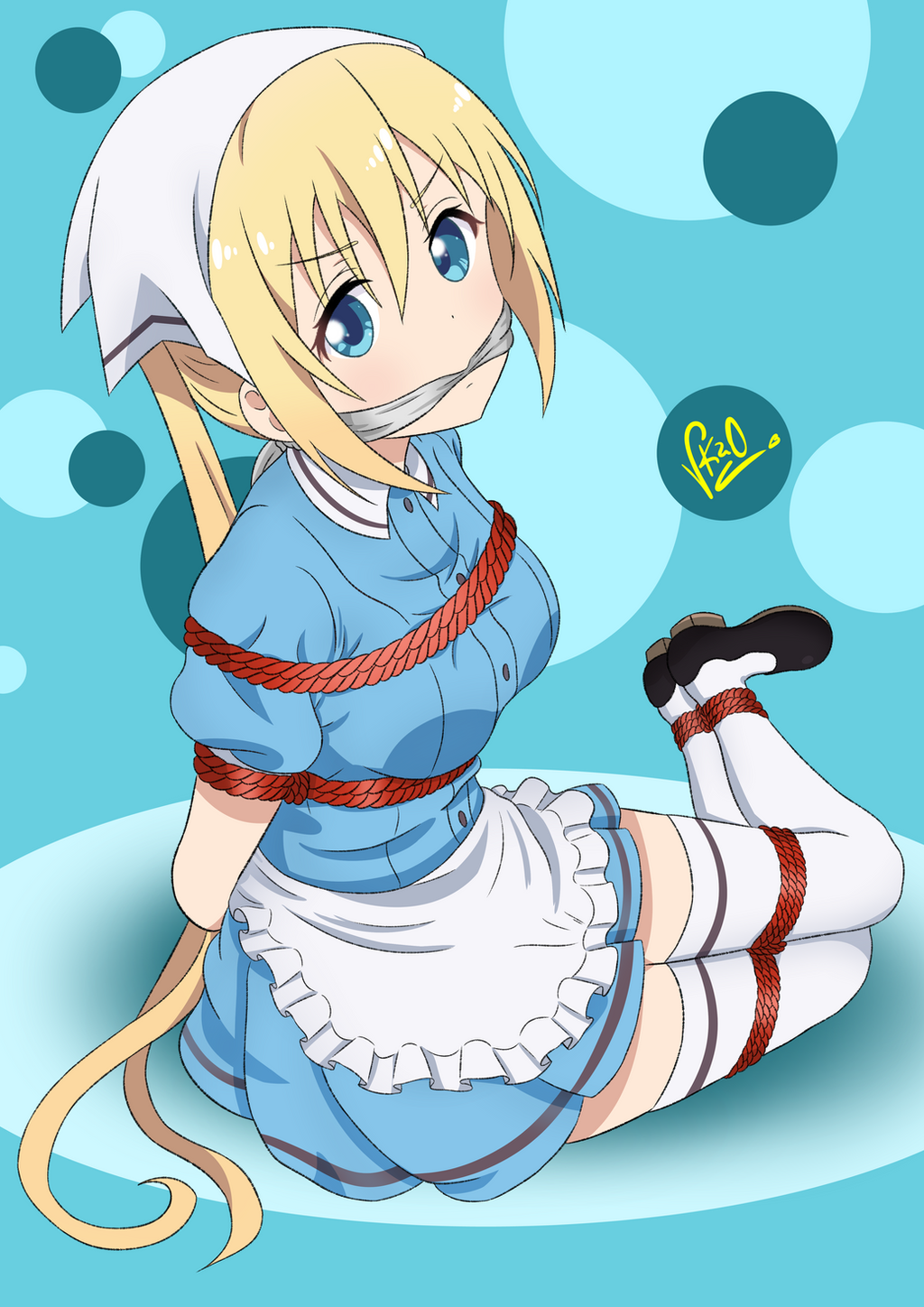 Anime girl tied up and gagged