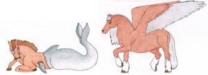 Kaiba and Pegasus by fedishi