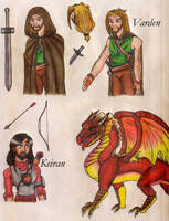 Varden, Keiran and dragon by fedishi