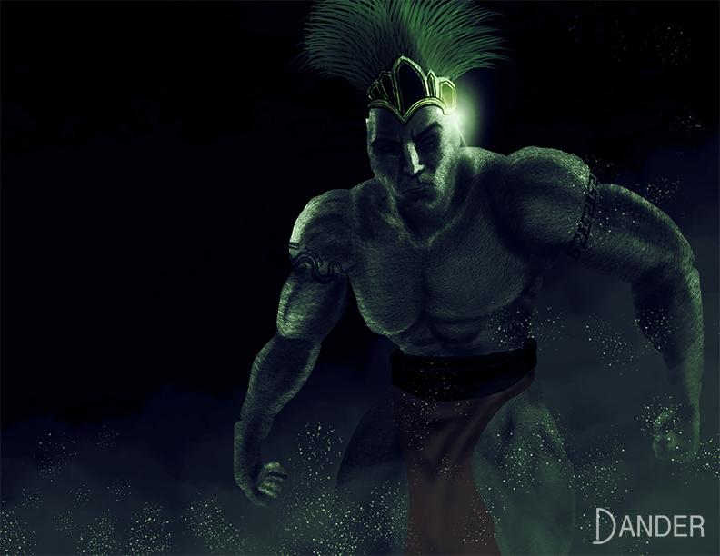 Aztec god sketch by The-Dander