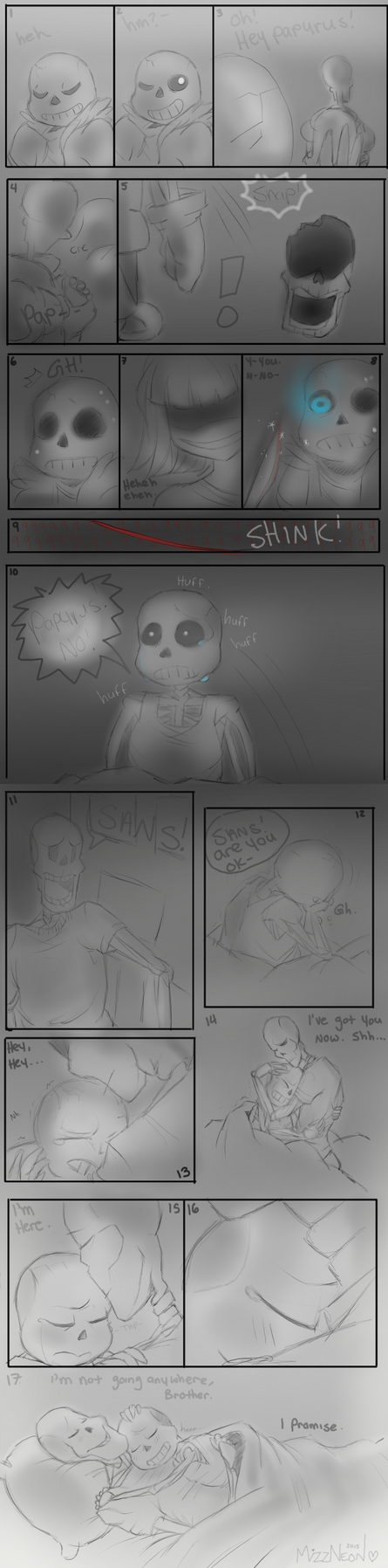 Im here - Sans and Papyrus UT | SPOILERS | by MizzNeon