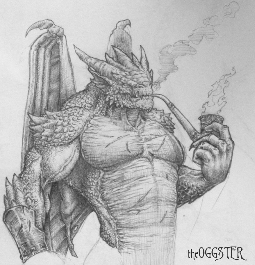 Man-Dragon Drawing by theoggster on DeviantArt