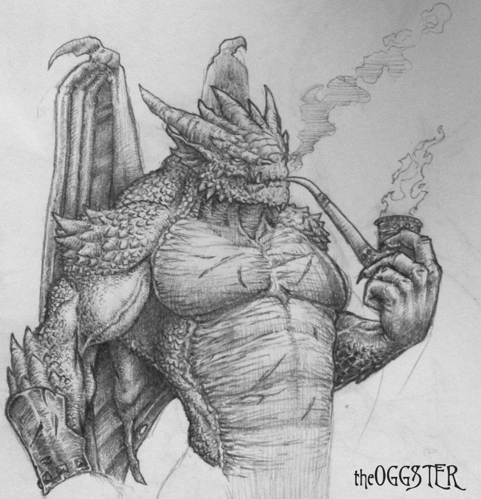 Awesome Dragon Eye Drawings Man-dragon drawing byRealistic Dragon Sketches In Pencil