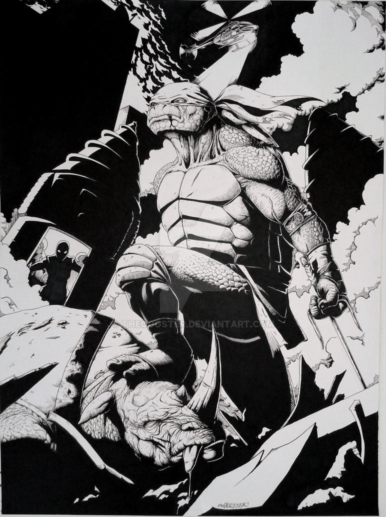 TMNT Raph Inked by theoggster