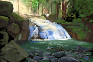 Waterfall - Reference Photo By @DeadpoolME2