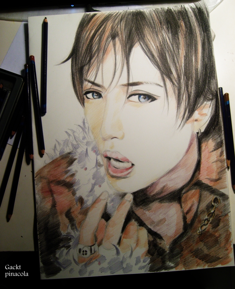 Gackt drawing. Complete by pinacolajphk