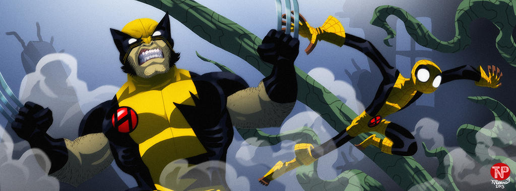 The Uncanny Spider-Man meets Weapon X by tnperkins