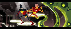 CaptainMarvel and AdamWarlock... by tnperkins