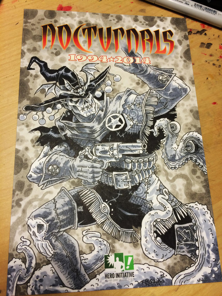 Hero Initiative Gunwitch Sketch For Dan Brereton.. by tnperkins