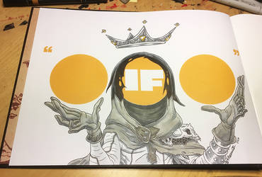 A commission sketch inside my new art book IF...