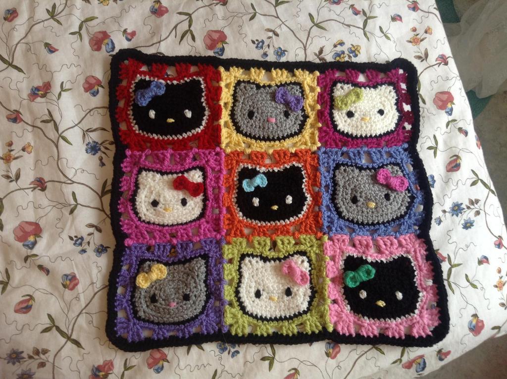 Crochet Pattern For Hello Kitty Baby Blanket : Hello Kitty kitty blanket by Blondy1999 on DeviantArt
