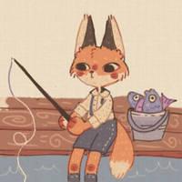 Fishing Fox by Bumcchi