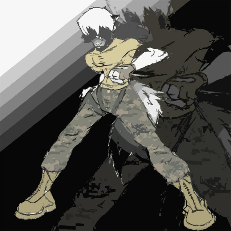 Anthro Wolf Soldier Wolf Soldier Vehn by