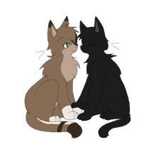 Crowfeather X Leafpool by Niutellat