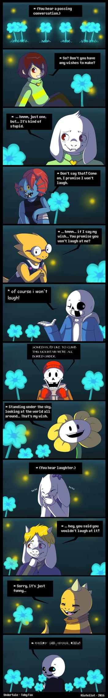 Undertale Comic - Echo Flowers' Story by Niutellat