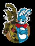 Art Trade KaijuKim - Springtrap and Toy Bonnie