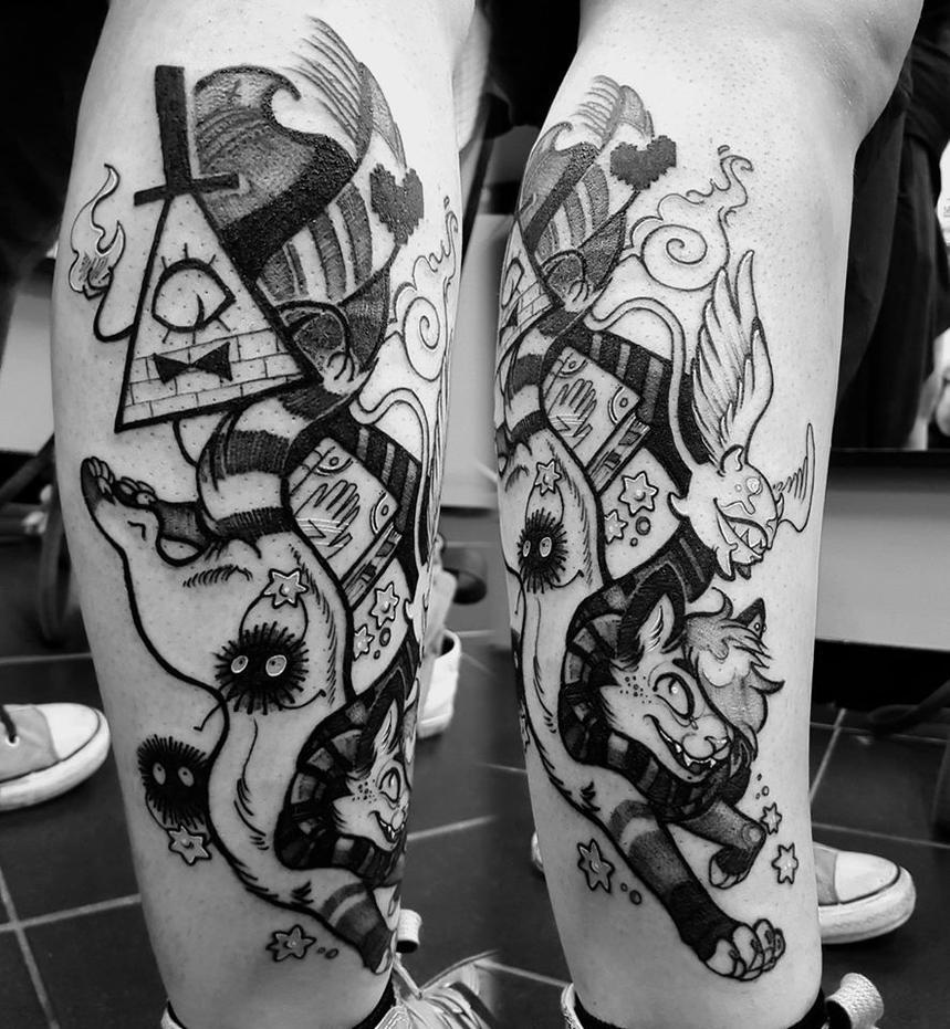 Multyfandom tattoo by Niutellat
