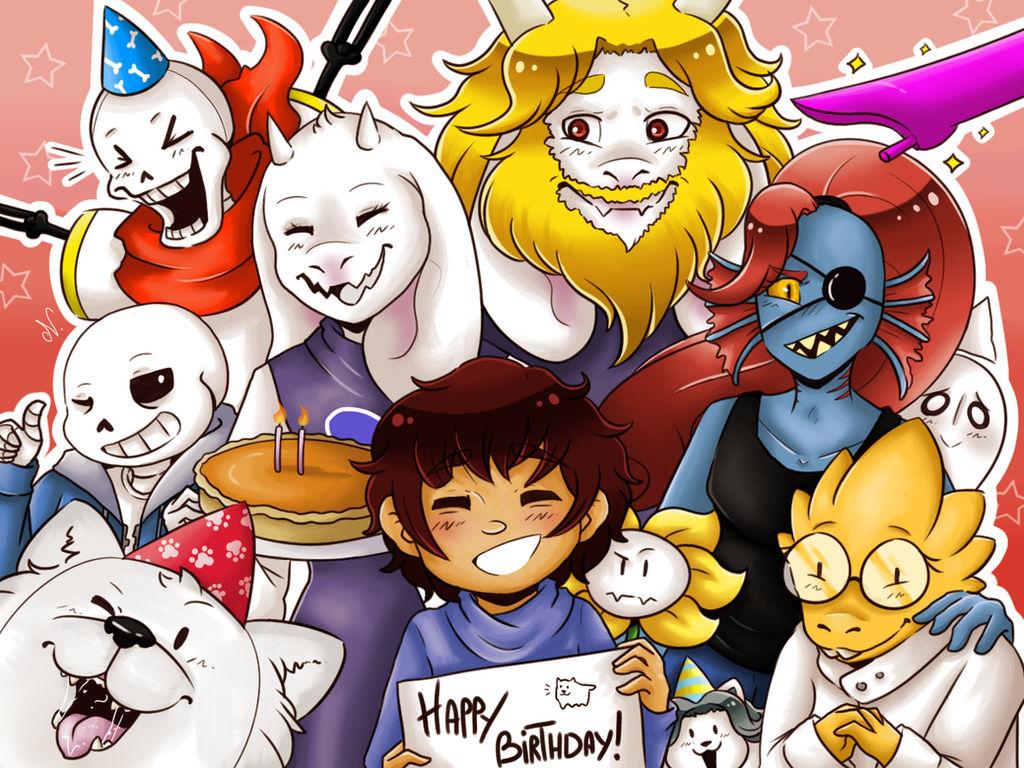 ת×צ×ת ת×××× ×¢××ר âªundertale happy birthdayâ¬â