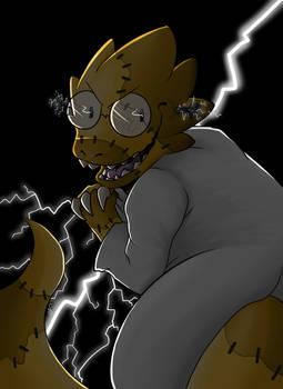 [MONSTOBER DAY 4] Frankenstein's Monster (Alphys) by Niutellat