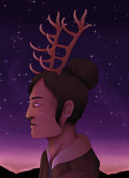 [ArtFight] Stars and Antlers by Niutellat